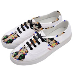Meowy Christmas Women s Classic Low Top Sneakers by Valentinaart