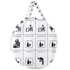 Holidays Giant Round Zipper Tote