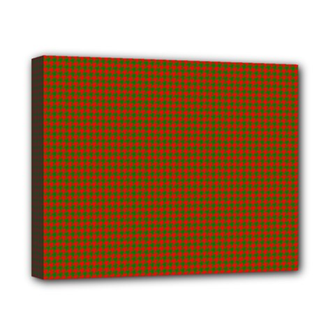 Classic Christmas Red And Green Houndstooth Check Pattern Canvas 10  X 8  by PodArtist