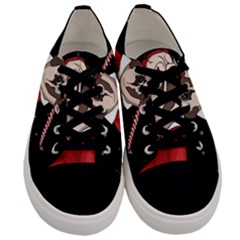 Pug Xmas Men s Low Top Canvas Sneakers