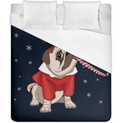 Pug Xmas Duvet Cover (california King Size) by Valentinaart
