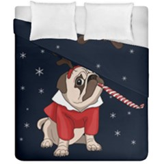 Pug Xmas Duvet Cover Double Side (california King Size) by Valentinaart