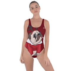 Pug Xmas Bring Sexy Back Swimsuit by Valentinaart