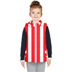 Wide Red And White Christmas Cabana Stripes Kid s Puffer Vest