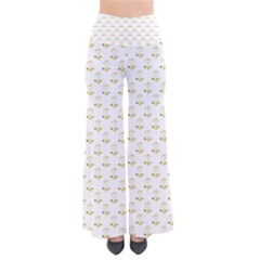 Gold Scales Of Justice On White Repeat Pattern All Over Print Pants by PodArtist