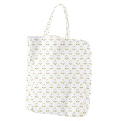 Gold Scales Of Justice On White Repeat Pattern All Over Print Giant Grocery Zipper Tote by PodArtist