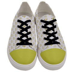 Gold Scales Of Justice On White Repeat Pattern All Over Print Men s Low Top Canvas Sneakers