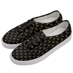 Gold Scales Of Justice On Black Repeat Pattern All Over Print  Women s Classic Low Top Sneakers by PodArtist