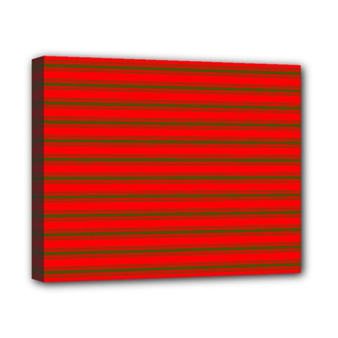 Christmas Red And Green Bedding Stripes Canvas 10  X 8  by PodArtist