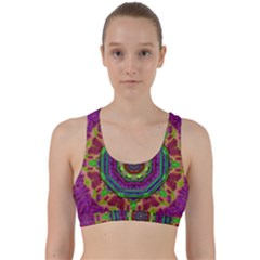 Mandala In Heavy Metal Lace And Forks Back Weave Sports Bra