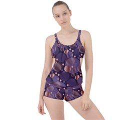 Random Polka Dots, Fun, Colorful, Pattern,xmas,happy,joy,modern,trendy,beautiful,pink,purple,metallic,glam, Boyleg Tankini Set  by 8fugoso