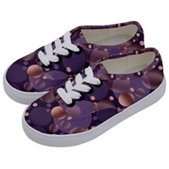 Random Polka Dots, Fun, Colorful, Pattern,xmas,happy,joy,modern,trendy,beautiful,pink,purple,metallic,glam, Kids  Classic Low Top Sneakers by 8fugoso