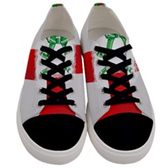 Christmas Stocking Men s Low Top Canvas Sneakers
