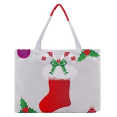 Christmas Stocking Zipper Medium Tote Bag by christmastore