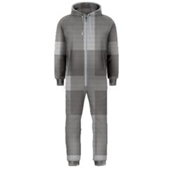 Gray Designs Transparency Square Hooded Jumpsuit (men)  by Celenk