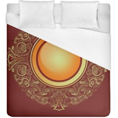 Badge Gilding Sun Red Oriental Duvet Cover (king Size)