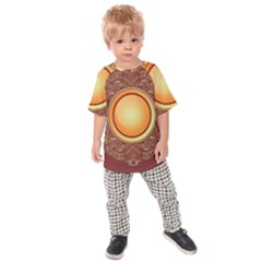 Badge Gilding Sun Red Oriental Kids Raglan Tee