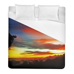 Sunset Mountain Indonesia Adventure Duvet Cover (full/ Double Size) by Celenk