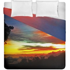 Sunset Mountain Indonesia Adventure Duvet Cover Double Side (king Size) by Celenk