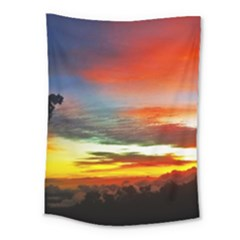 Sunset Mountain Indonesia Adventure Medium Tapestry by Celenk