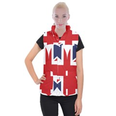 Uk Flag United Kingdom Women s Button Up Puffer Vest