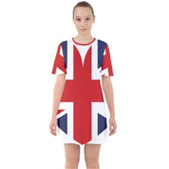Uk Flag United Kingdom Sixties Short Sleeve Mini Dress