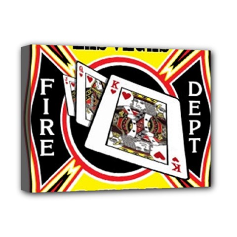 Las Vegas Fire Department Deluxe Canvas 16  X 12   by allthingseveryday