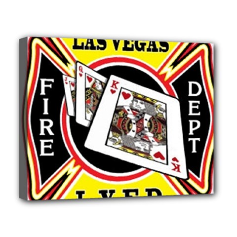 Las Vegas Fire Department Deluxe Canvas 20  X 16   by allthingseveryday