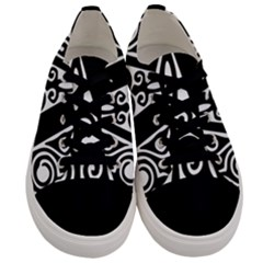 Alphabet Calligraphy Font A Letter Men s Low Top Canvas Sneakers