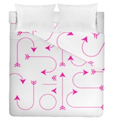 Arrows Girly Pink Cute Decorative Duvet Cover Double Side (queen Size) by Celenk
