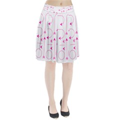Arrows Girly Pink Cute Decorative Pleated Skirt