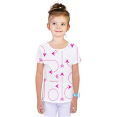 Arrows Girly Pink Cute Decorative Kids  One Piece Tee by Celenk