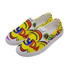 Happy Happiness Child Smile Joy Women s Canvas Slip Ons by Celenk
