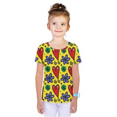 Seamless Tile Repeat Pattern Kids  One Piece Tee