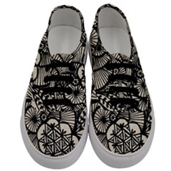 Background Abstract Beige Black Men s Classic Low Top Sneakers