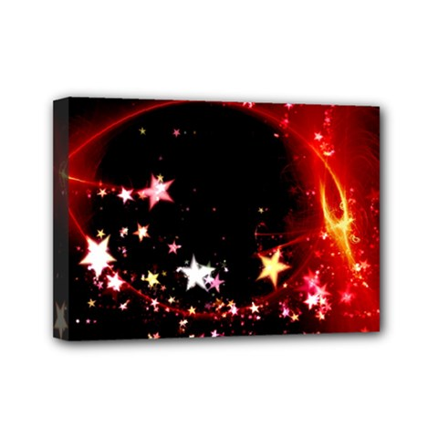 Circle Lines Wave Star Abstract Mini Canvas 7  X 5  by Celenk