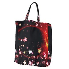 Circle Lines Wave Star Abstract Giant Grocery Zipper Tote by Celenk