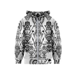 Ancient Parade Ancient Civilization Kids  Zipper Hoodie by Celenk