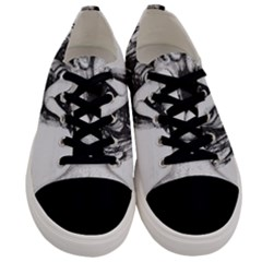 Stippling Drawing Dots Stipple Men s Low Top Canvas Sneakers