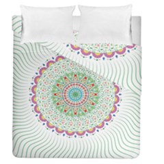 Flower Abstract Floral Duvet Cover Double Side (queen Size) by Celenk
