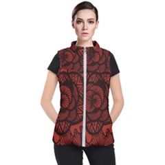 Background Abstract Red Black Women s Puffer Vest