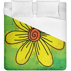 Flower Cartoon Painting Painted Duvet Cover (king Size) by Celenk