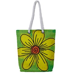 Flower Cartoon Painting Painted Full Print Rope Handle Bag (small)