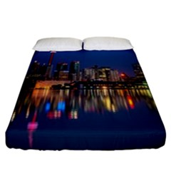 Buildings Can Cn Tower Canada Fitted Sheet (california King Size) by Celenk
