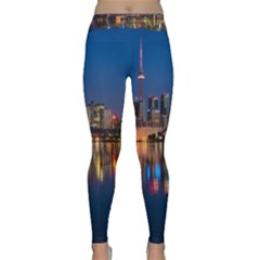 Buildings Can Cn Tower Canada Classic Yoga Leggings by Celenk