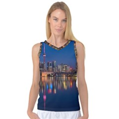 Buildings Can Cn Tower Canada Women s Basketball Tank Top by Celenk