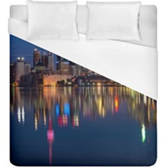 Buildings Can Cn Tower Canada Duvet Cover (king Size)