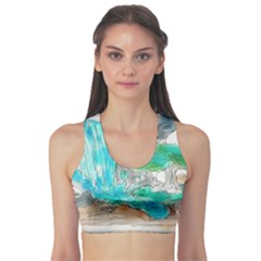 Doodle Sketch Drawing Landscape Sports Bra by Celenk