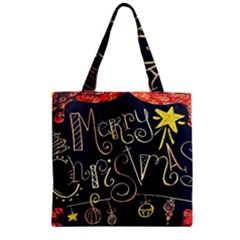 Chalk Chalkboard Board Frame Zipper Grocery Tote Bag