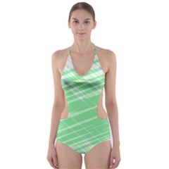Dirty Dirt Structure Texture Cut-out One Piece Swimsuit
